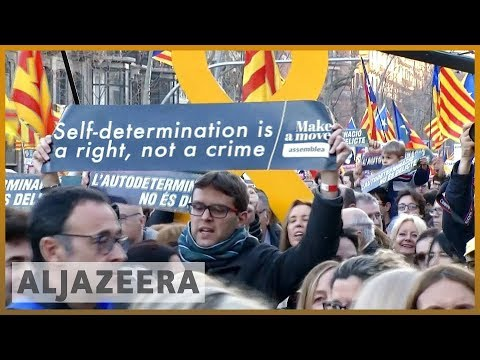 🇪🇸 Spain: Protest in Barcelona against Catalan separatists' trial | Al Jazeera English