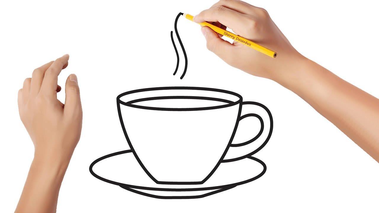 Como Desenhar Uma Xicara De Cha Passo A Passo Desenhos Para