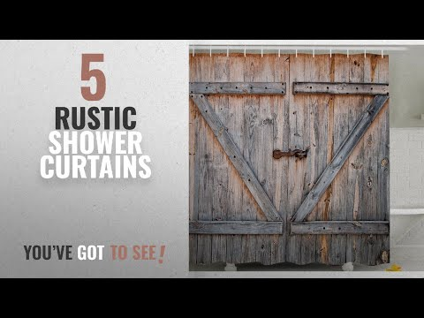 Top 10 Rustic Shower Curtains [2018]: Fabric Shower Curtain Country Decor by Ambesonne , Old Wooden