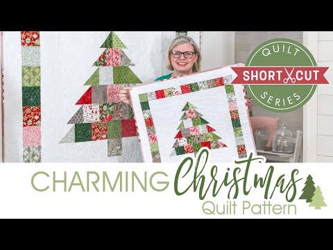 Free Pattern Charming Christmas Shortcut Quilt Fat Quarter Shop Youtube
