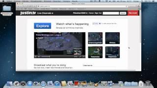 Transmitir videos en tiempo real (justin.tv), Mac OS X Mountain Lion, Lion, Snow...