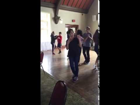 Sammy's Quinceañera waltz practice - sides steps