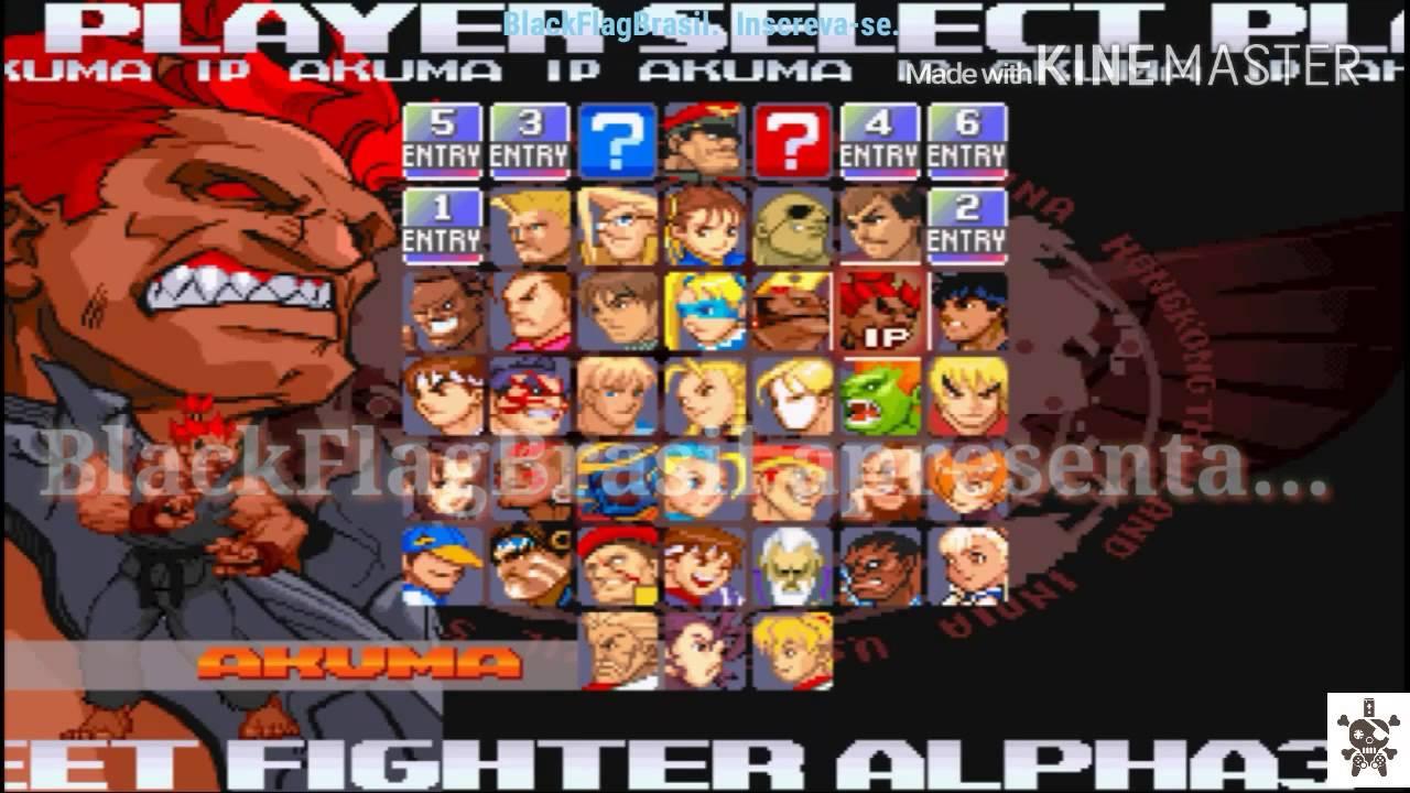 Street Fighter Alpha 3 Max, GamePlayRoundsmusic® #Akuma #Secreto #made in  Bra$iL!!!