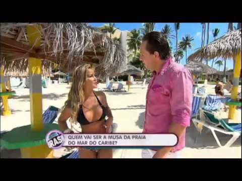 melhor do brasil Direto de Aruba, Gustavo Sarti mostra os biquínis que fazem a temperatura subir 15