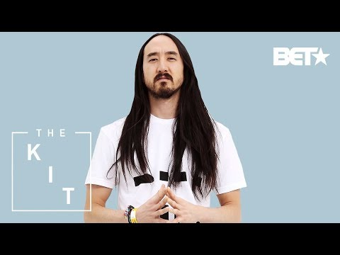 Steve Aoki's Laptop, CarryOn/Backpack, Champagne, Sun Glasses, and a Statement Piece | The Kit