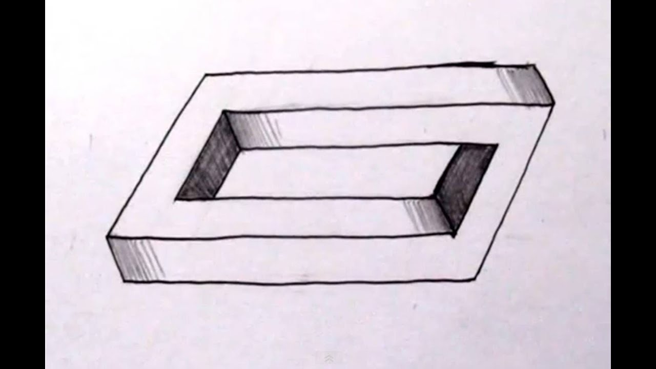 How To Draw The Impossible Penrose Rectangle Cool Optical Illusion