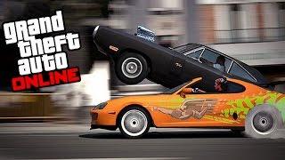 GTA 5 FAST AND FURIOUS DRAG RACE (DOM VS BRIAN) Mrjksaw