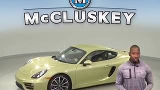 A99532GT Used 2014 Porsche Cayman Coupe Gold Test Drive, Review, For Sale -
