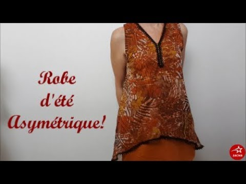 Tuto couture facile: Coudre une robe fluide pour cet été !-patron gratuit-