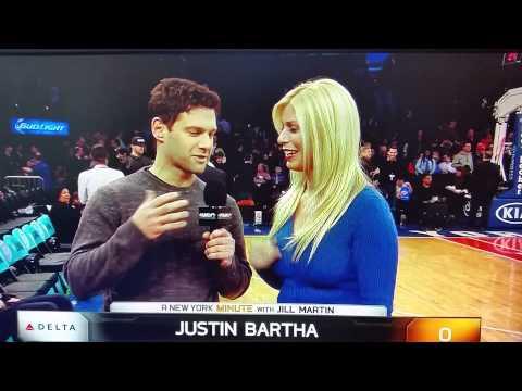 Justin Bartha makes Jill Martin uncomfortable