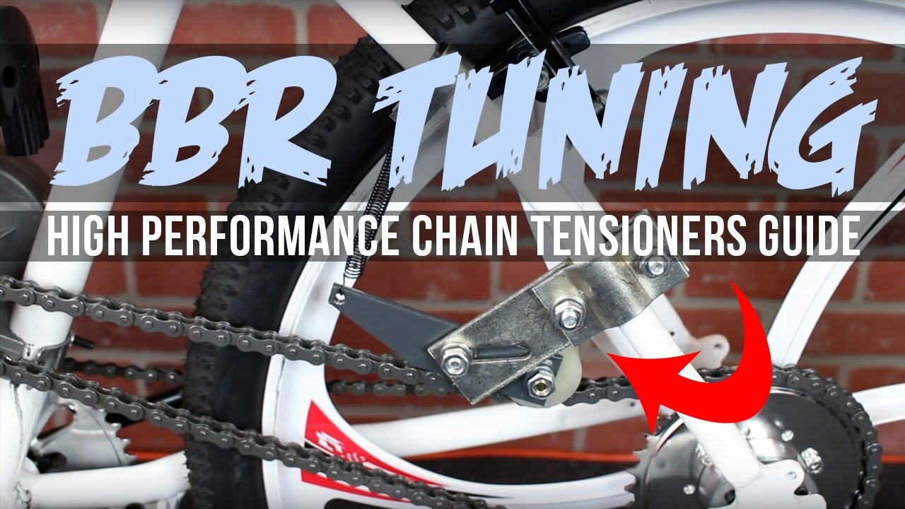 Silver Spring Loaded Chain Tensioner For 49cc 80cc Engine Motorized bike