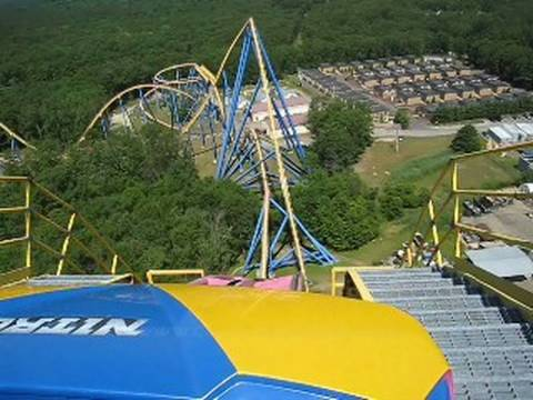 Nitro Front Row on-ride POV Six Flags Great Adventure