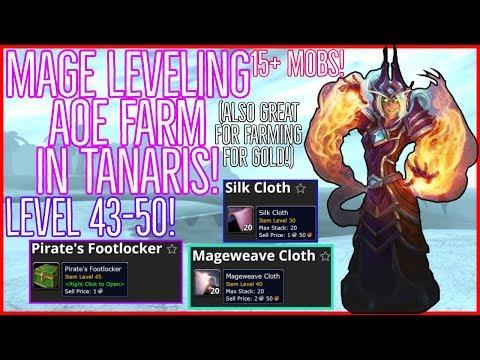 Classic WoW   AoE Mage Farm Classic Leveling Guide (Tanaris)   Level 43-50   AMAZING Spot! EXP/GOLD!