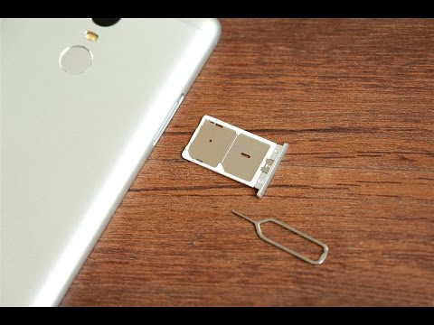 Redmi note 3 ,Inserting SimCard and memory Card