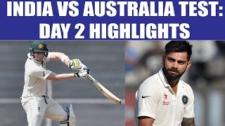 india vs australia 1st test day 2 highlights aussies outplay indians   oneindia news