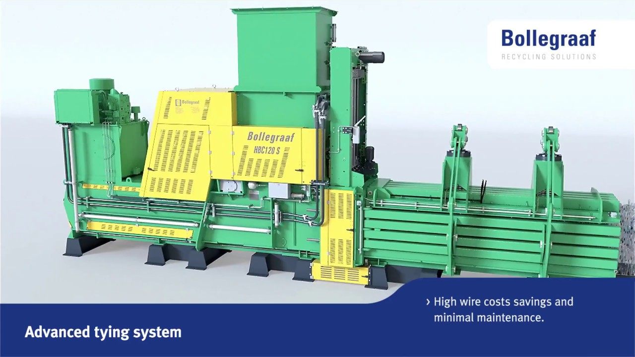 Bollegraaf Recycling Baler Operation - Animation