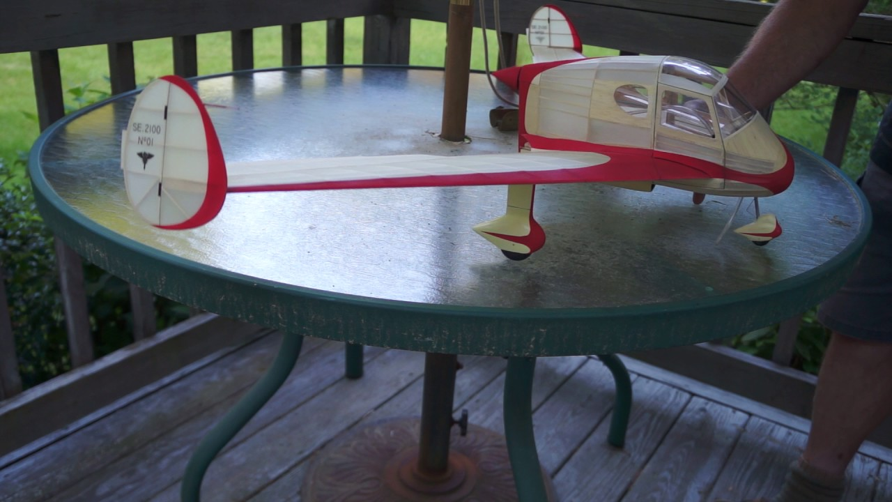Z-Motor Compressed Air test #1 in Free Flight Scale model