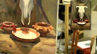 Натюрморт: работа над частями - Обучение живописи. Масло. Введение, 15 серия