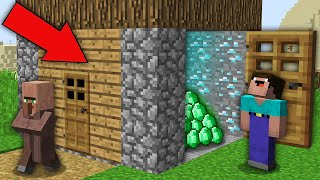 Minecraft NOOB vs PRO: THIS NOOB OPENED SECRET PASSAGE IN VILLAGER HOUSE! Challenge 100% trolling