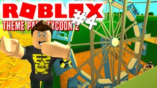 HOLE IN THE GROUND! -Roblox Theme Park Tycoon 2 English Ep 4 with ComKean