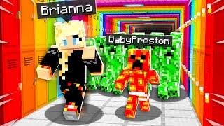 So I Took Baby Preston to Pranking School... - Minecraft
