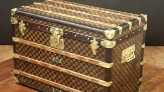Wonderfull   Louis Vuitton damier trunk   malle de luxe