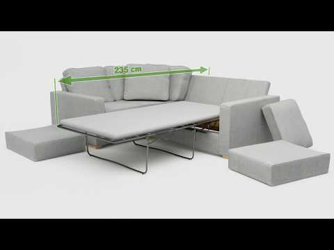 Lear 3X2 Corner Single Sofa Bed