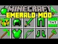 Minecraft EMERALD MOD! | NEW EMERALD WEAPONS, ARMOR, TNT, & MORE! | Modded Mini-Game