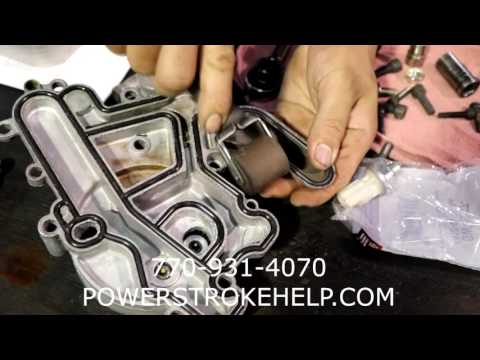 EGR COOLER REPLACEMENT ON A 6.0L POWERSTROKE 4 in a series