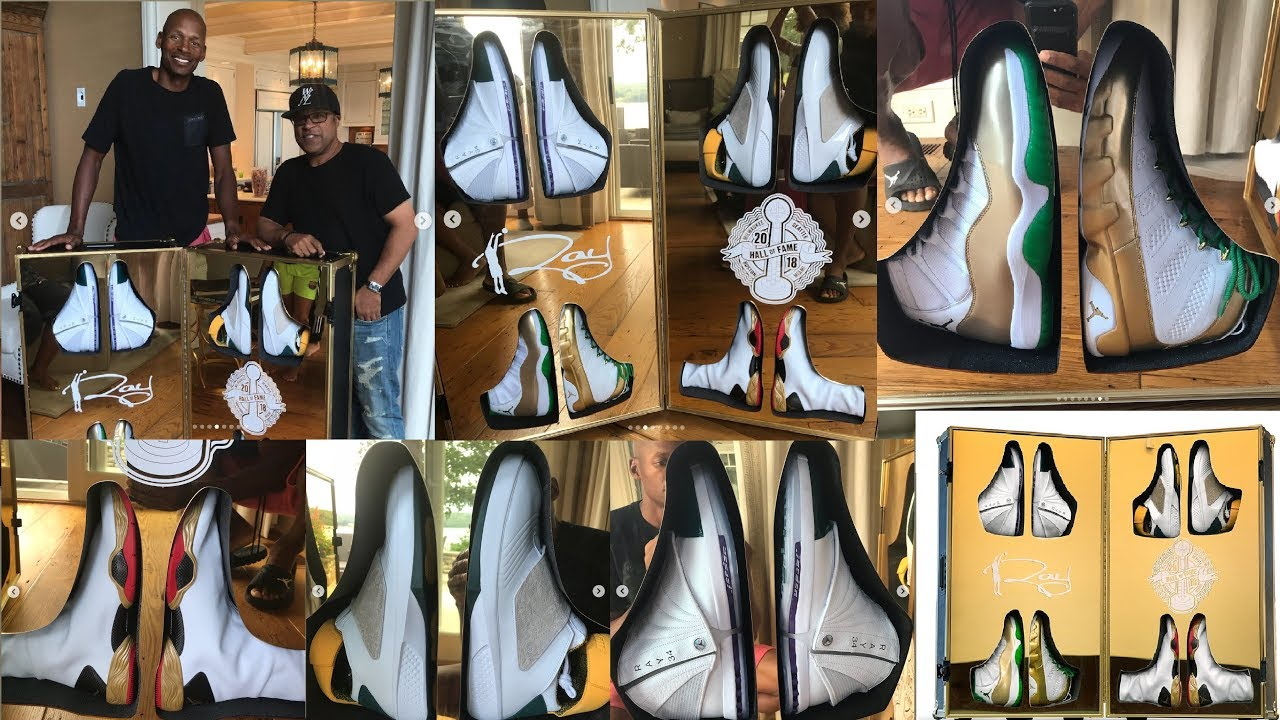 JORDAN BRAND GIFTED RAY ALLEN HALL OF FAME PLAYER EXCLUSIVES - YouTube 4df8e3177