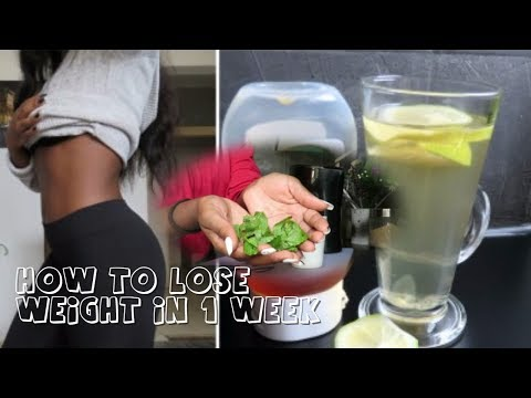 How To Lose 5kg in 1 Week Without Exercise / Effective Weight Loss Drinks