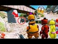 GUESS WHO'S THE MONSTER UNDER THE BRIDGE! ANIMATRONIC MYSTERY! (GTA 5 Mods For Kids FNAF RedHatter)