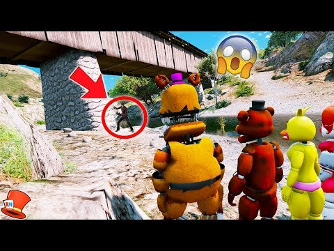 Download lagu GUESS WHO'S THE MONSTER UNDER THE BRIDGE! ANIMATRONIC MYSTERY! (GTA 5 Mods For Kids FNAF RedHatter)