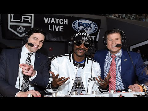 Snoop Dogg hosts and calls first period of the LA Kings game (FULL)