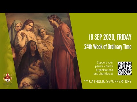 Catholic Weekday Mass Today Online - Friday, 24th Week of Ordinary Time 2020