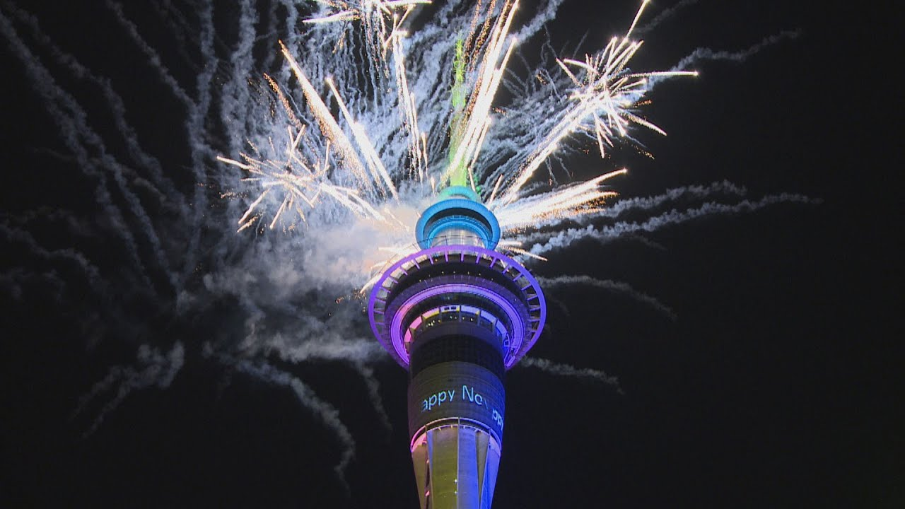 Welcome to 2021: Auckland's Sky Tower hosts spectacular fireworks show