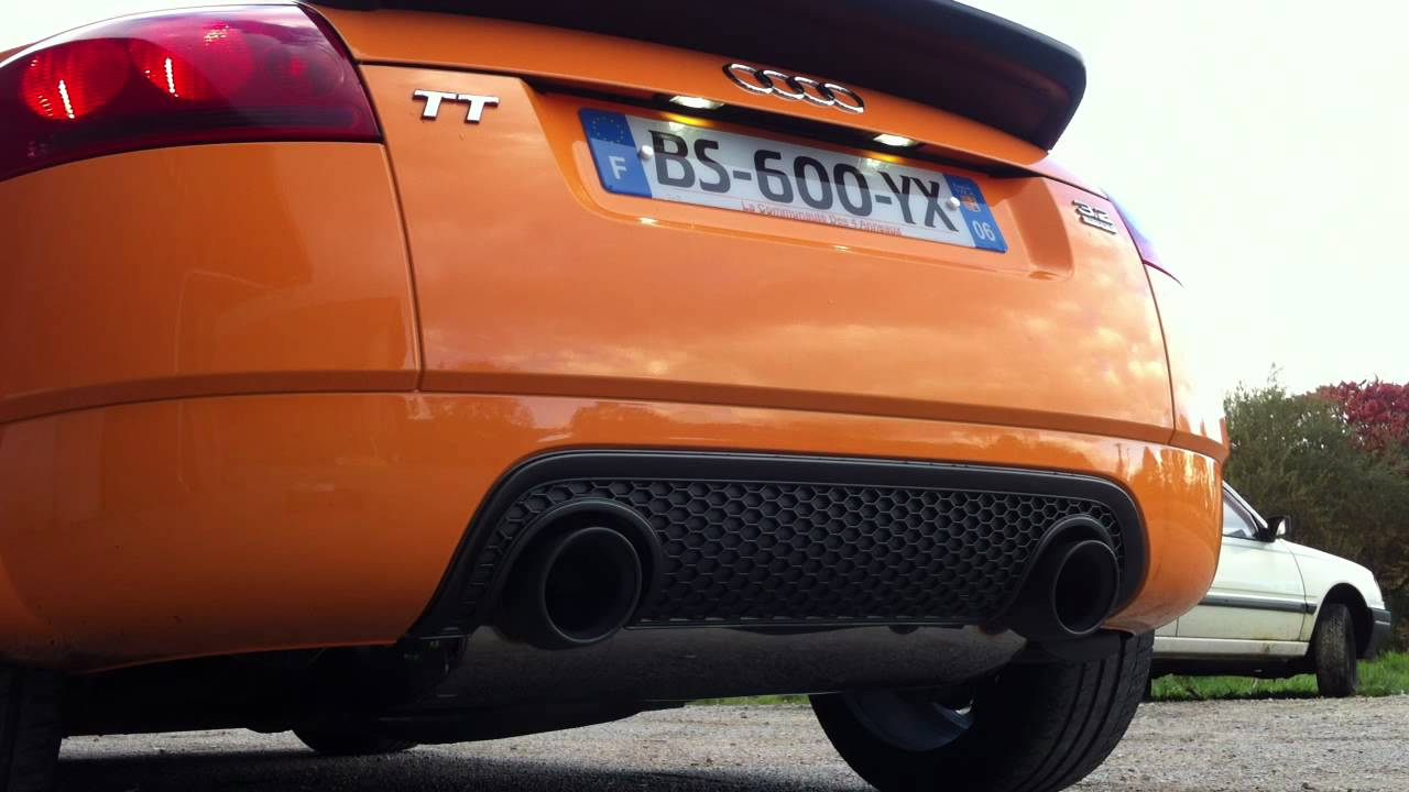 Audi tt v6 milltek youtube for Audi tt 8n interieur tuning