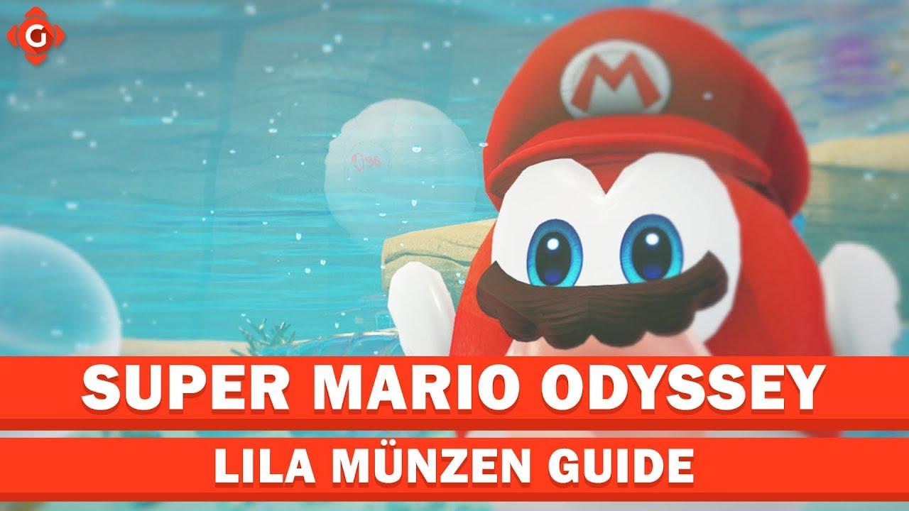Super Mario Odyssey Alle Sammelobjekte Lila Münzen Seeland