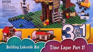 Time Lapse Lakeside Hut Building Part 1 Lego Treehouse Creator Build 3 Different Houses From 1 Lego