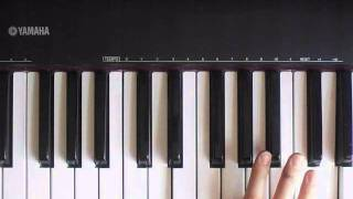 "Evanescence: ""Good Enough"" Intro Piano Piece Tutorial- RIGHT Hand Part 2"