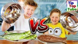 REAL FOOD vs. SCHOKO FOOD - TipTapTube