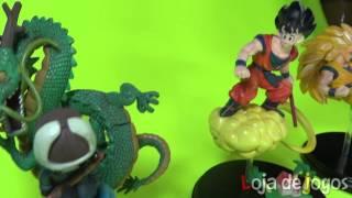 Quatro cenas do Dragon Ball Z em PVC da BAN DAI - Loja de Jogos