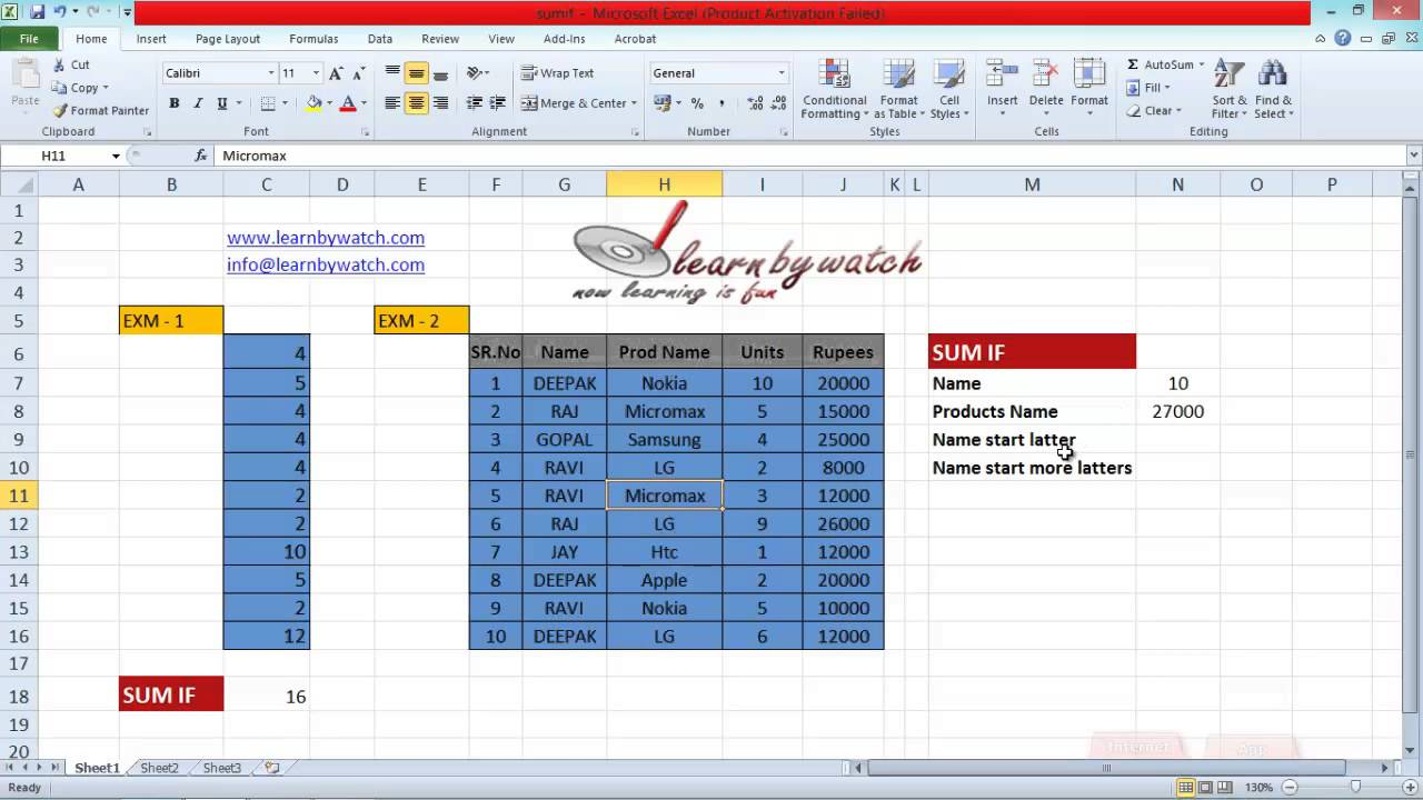 how to use sumif formula in excel  hindi    urdu