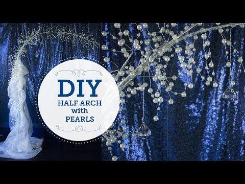 Half Arch with Pearls   DIY Wedding Altar   BalsaCircle.com
