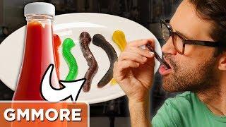 Ketchup Gummy Worm Taste Test