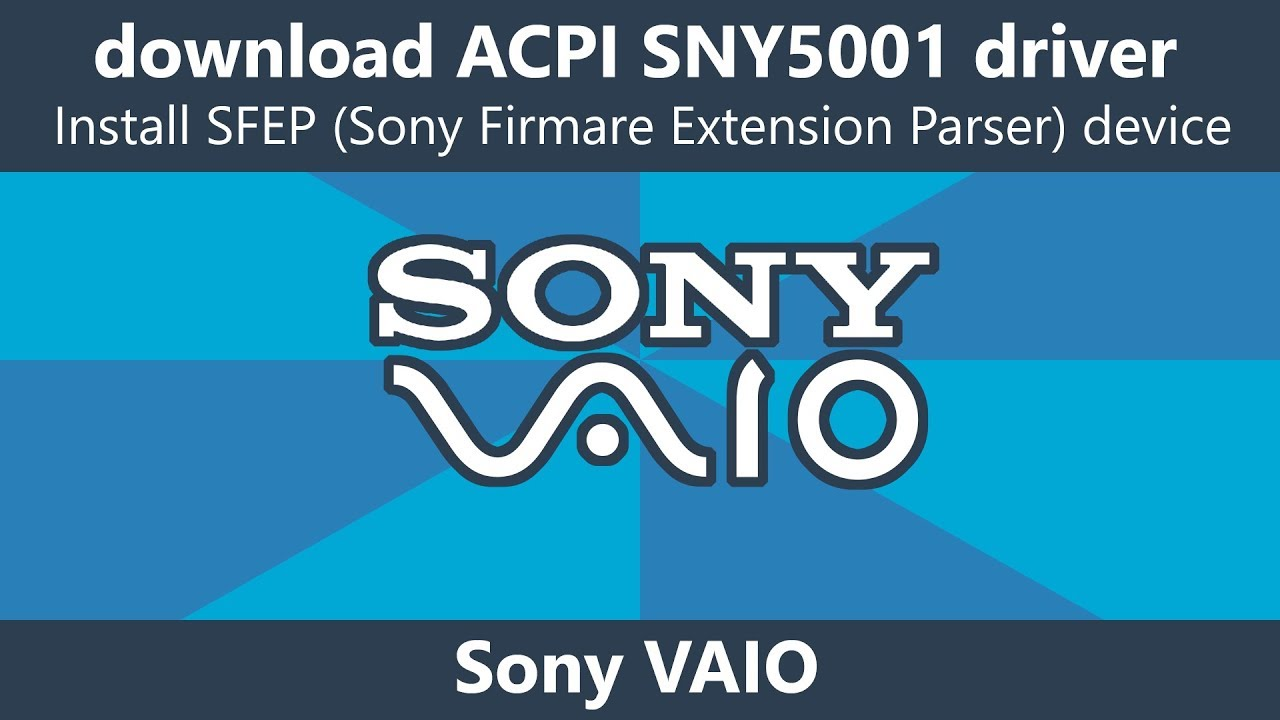 SONY SNY5001 DRIVERS WINDOWS XP