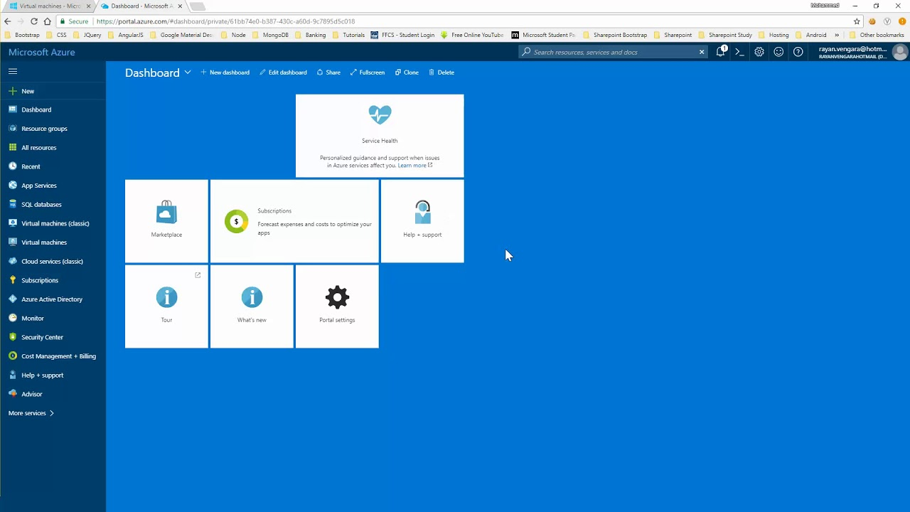 Difference between classic and latest Virtual Machine on azure