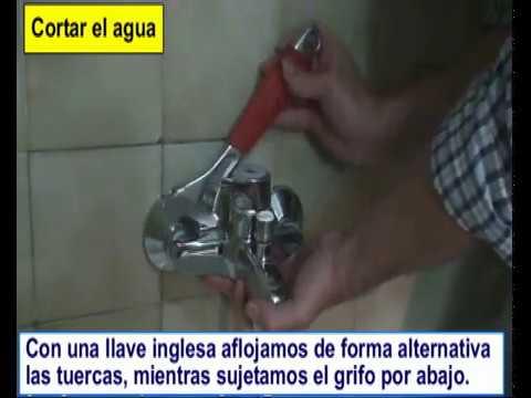 Cambiar o poner el grifo de la ducha de la ba era youtube for Cambiar grifo ducha