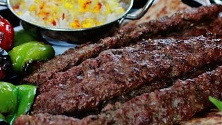 Afghan kabab plater /full healthy meal /kabab with rice,red chutney and salad recipe by Food Cottage