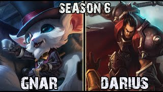 Gnar vs Darius TOP Ranked Challenger NA